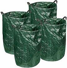 4er Set Gartenabfallsack 120 Liter Laubsack mit