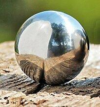 4er Set Gartenkugel poliert 6,5 cm aus Edelstahl