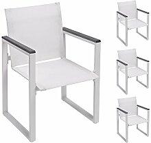 Gartenstühle Gartenstühle U2022 Eigenschaften: Set, Breit U2022 Farbe: Weiß U2022  Materialien: Aluminium, Holz, Metall