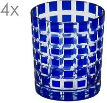 4er Set Kristallgläser Marco, blau,