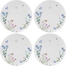 4er SET Kuchenteller, Frühstücksteller MEADOW BUGS D. 21cm Keramik Creative Tops (47,50 EUR / Stück)