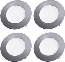 4er Set LED Einbau Strahler Chrom Decken Leuchten