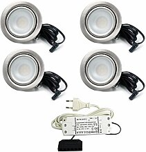 4er Set LED Einbaustrahler Möbelleuchte
