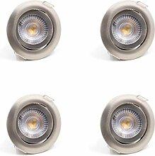 4er SET LED Einbaustrahler Spots Flach schwenkbar