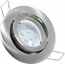4er Set LED SMD Einbaustrahler Lino 230Volt.