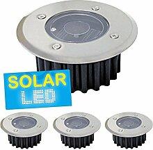 4er-Set LED Solar Bodenstrahler,4er-Se