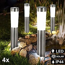 4er Set LED Solar Leuchten Steck Stand