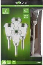 4er Set LED Solar-Wegeleuchte mit bis zu 3 Lumen,