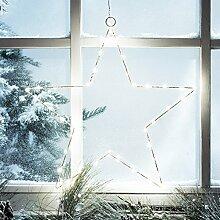 4er Set LED Stern Fensterbild Weihnachten