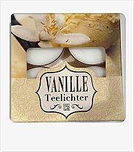 4er Set Metallics Duft-Teelicht Vanille