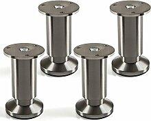 4er Set Möbelfüße verstellbar Schrankbeine