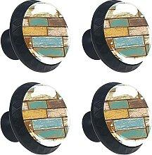 (4Er-Set) Möbelknöpfe Aus Gold Schubladenknöpfe