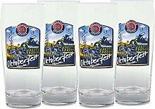 4er Set Paulaner Bierglas - 0,5 Liter Biergläser