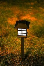 4er Set Solar Laterne Solar Gartenbeleuchtung Garten Standlaternen Solar LED Solar Wegeleuchte schwarz (4)