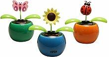4er Set-Solarblume, Wackelblume, Solarflower -