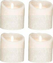 4er Set Sompex Flame LED Echtwachskerzen 10cm