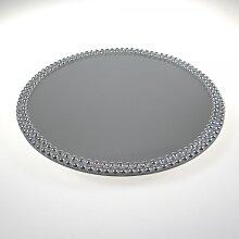 4er Set Spiegelplatten, Tischspiegel mit Fuß, rund Ø 30cm, Sandra Rich (60,00 EUR / Stück)