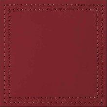 4er Set Untersetzer BONDED Kunstleder rot 10x10cm