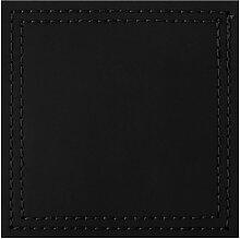 4er Set Untersetzer BONDED Kunstleder schwarz