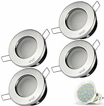 4er Set VENEDIG RUND (Matt-Chrom) IP44 230V LED