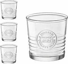4er Set Whiskygläser OFFICINA, 30 cl, 10 oz, Ø