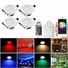 4er Set Wlan Bluetooth 5W LED Einbaustrahler