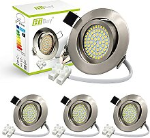 4er Ultra Flach LED Einbaustrahler 230V