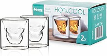 4Home Hot und Cool Scull Thermo Glasses 80 ml,