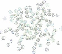 4mm Faceted Czech Glass Crystal AB Qty 1000