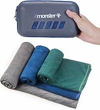 4Monster Mikrofaser-Handtuch, Reisehandtuch,