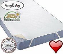 4myBaby Matratzenschutz Wasserdicht Matratzenschoner Wasserdichte Betteinlage MOLTON (100% Baumwolle) 160x200