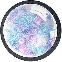 (4Pack) Kristallglasschrank Kommode Knöpfe Für