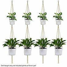 4Pcs 2-Lagen Hängen Makramee Pflanze