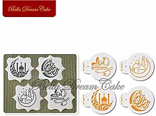 4Pcs Eid Mubarak Gebäude Kekse Schablonenset