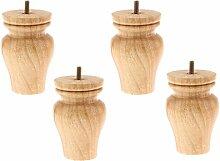 4pcs Holz Möbelfüße, Wohnzimmer Sofa Dekor -