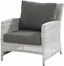 4Seasons Outdoor Castillo Living Sessel inkl. Kissen Polyrattan Ice Wicker