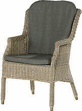 4Seasons Outdoor Del Mar dining Sessel Polyrattan Pure Loungesessel inkl Kissen