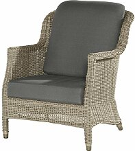 4Seasons Outdoor Del Mar living Sessel Polyrattan Pure Loungesessel inkl Kissen