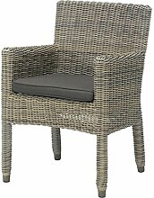 4Seasons Outdoor Wales dining Sessel Polyrattan pure inkl Kissen 211727