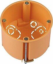 4smile.shop Hohlwanddose Ø 68 mm, 60 mm tief, mit Geräteschrauben, orange   20 Stück