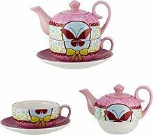 4tlg. Set Tea for one - Design: Piep Schmetterling
