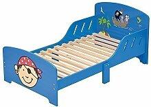 4Uniq Kinderbett Pirat blau lackiert Bettgestell