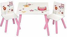 4Uniq Kindersitzgruppe Eule Tisch + Stühle