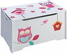 4Uniq Kinderspielzeugtruhe Eule Holzkiste Truhe Spielzeugkiste Kindermöbel Box