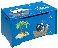 4uniq Kinderspielzeugtruhe Pirat Holzkiste Truhe