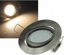 4W LED Downlight Flat-26 warmweiß 330lm Edelstahl