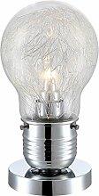 4W LED Tischleuchte Designerlampe Büroleuchte Alugeflecht innen Globo Calmar 15039T