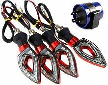 4x 12 LED Mini Blinker Motorrad Roller Quad Roller