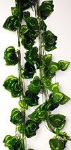 4x 3m Deko Efeu Blume Pflanze Dekoration zum Einstecken mit 12 Ranken!