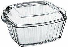 4x Auflaufform Glaskochgeschirr Glasbräter 2,6L